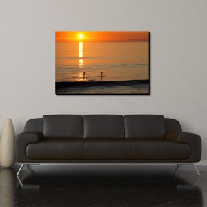 Image of SUNSET PADDLE - (Metal or Canvas)