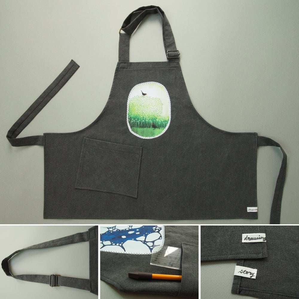 "Image of apron for kids ""Blackbirds"""