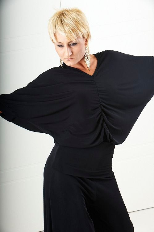 Image of Waterfall Top (E1601) Dancewear latin ballroom