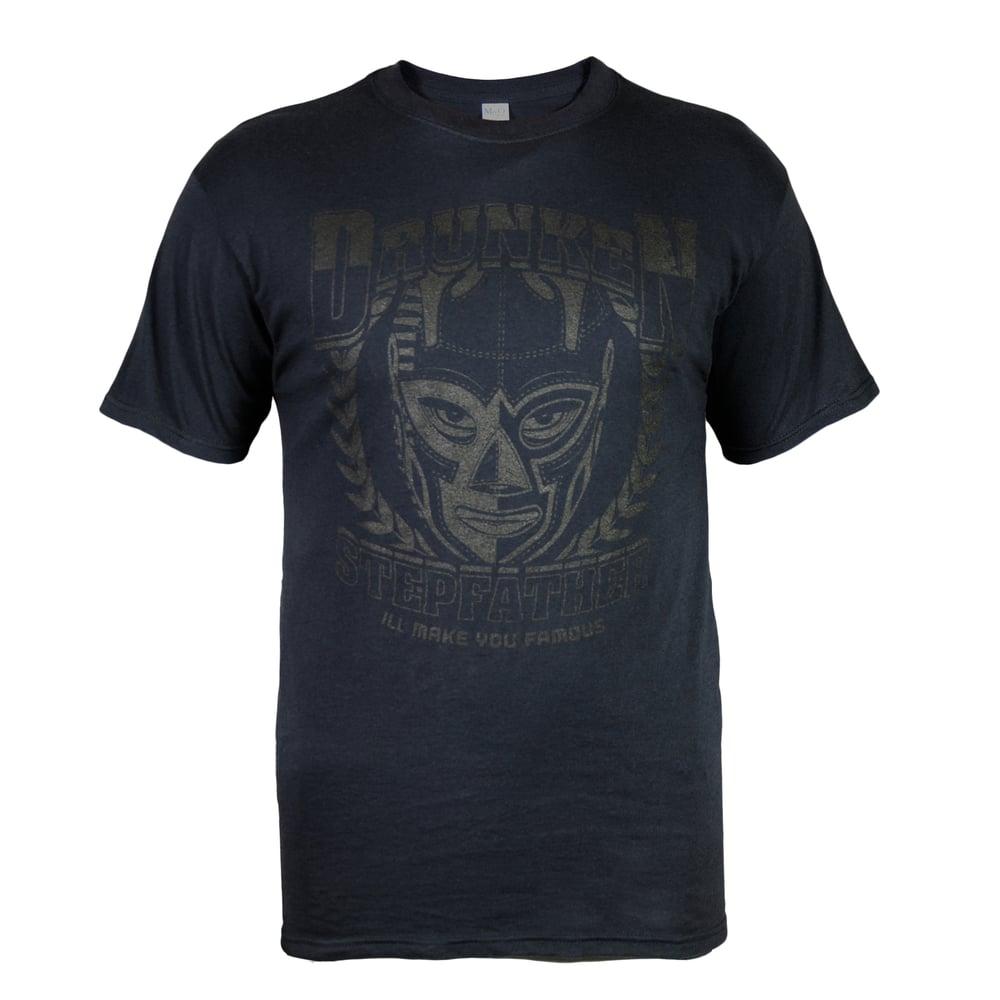 Image of Black on Black Wrestling Mask