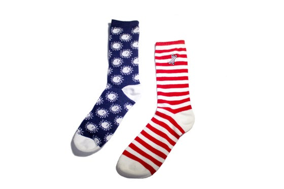 Image of Colonial Socks (Red/Wht/Nvy)