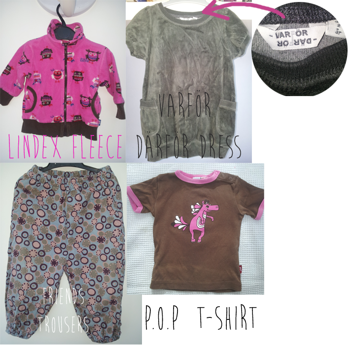 Image of Swedish baby girl clothes bundle 7-24m.