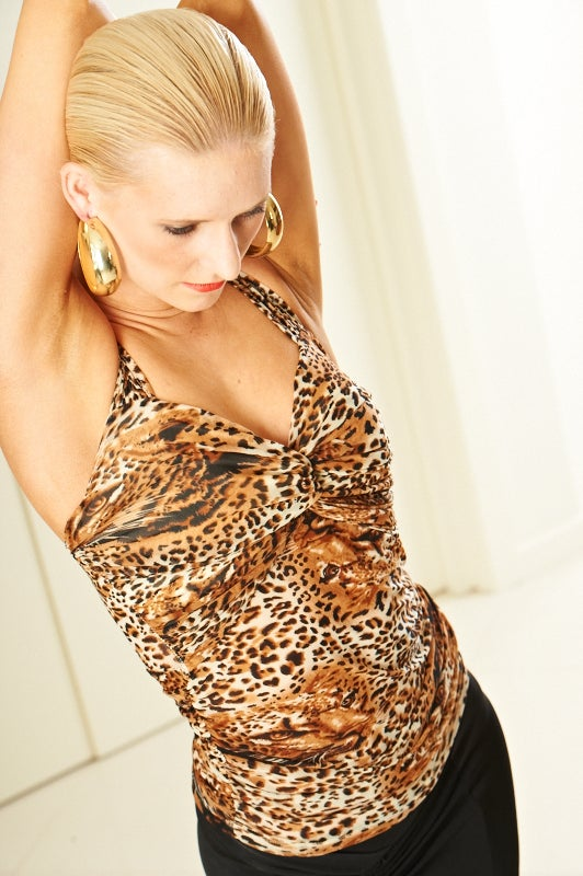 Image of Sleeveless CrissCross - Vicious Kitty (E5977A) Dancewear latin ballroom