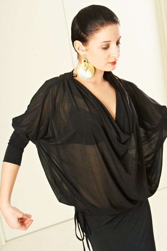Image of Soft Lantern Top (E6047) Dancewear latin ballroom
