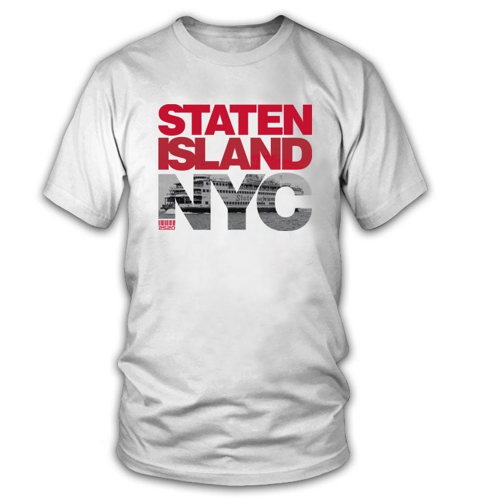 Image of STATEN ISLAND NYC TEE - WHITE (LIMITED EDITION)