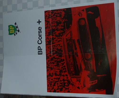 Image of Allan Moffat poster. Mustang and BP.