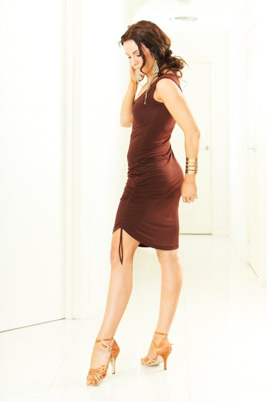 Image of Mini Dress - Black or Chocolate (H5070) Dancewear latin ballroom