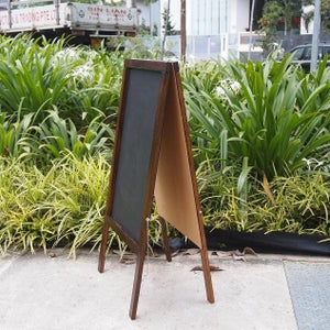 Medium Double Sided Standing Chalkboard with Walnut Frame (90cm X 60cm)