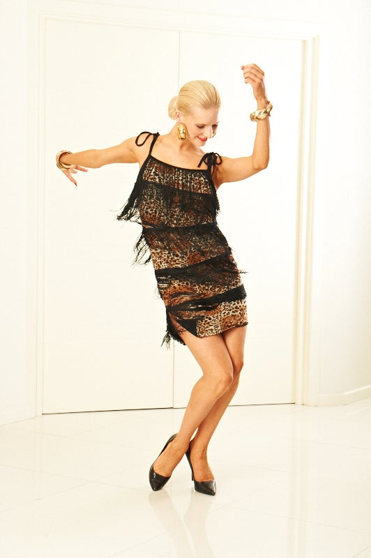 Image of Fringe Dress - Vicious Kitty (H5987) Dancewear latin ballroom