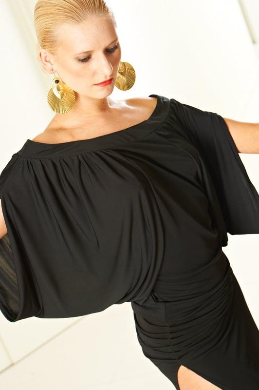 Image of Drape Flow Top (E3279) Dancewear latin ballroom