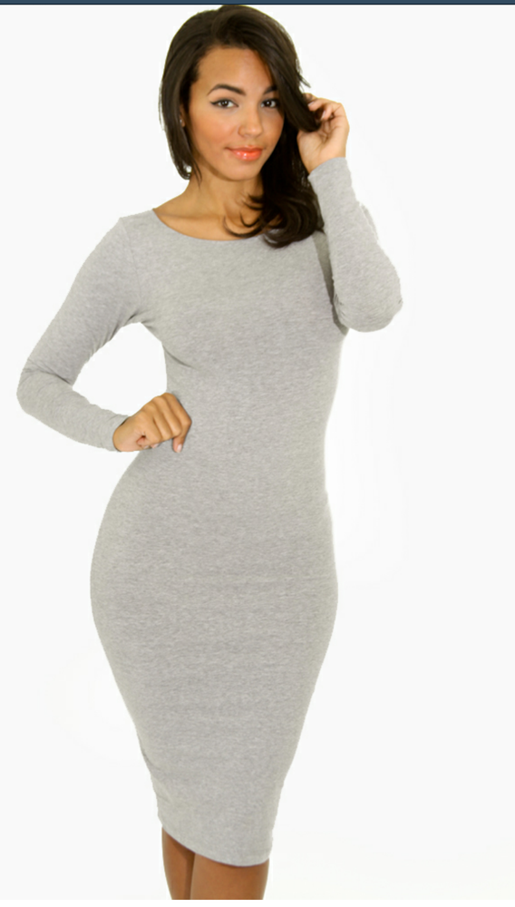 Image of **Multiple Colors**Long Sleeve Bodycon Dress