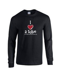 Image of I Heart a Tubie Long Sleeve T-Shirt - Black