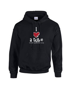 Image of I Heart a Tubie Hooded Pullover - Black