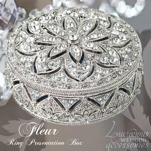 Image of Swarovski Crystal Collectible Trinket Box Fleur