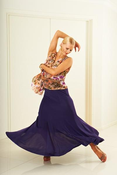 Image of Ballroom Panel Skirt - Purple (J3196)