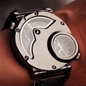 Image of Mens Watch Steampunk Wrist Mechanical Watch - Anniversary Gifts for Men (WAT0066-Black)