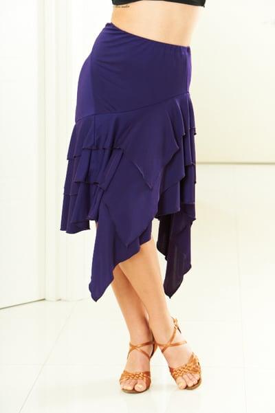 Image of Latin Flamenco Skirt - Purple J1810