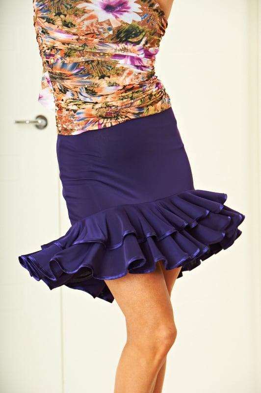 Image of Frill Skirt - Purple (J6664)  Dancewear latin ballroom
