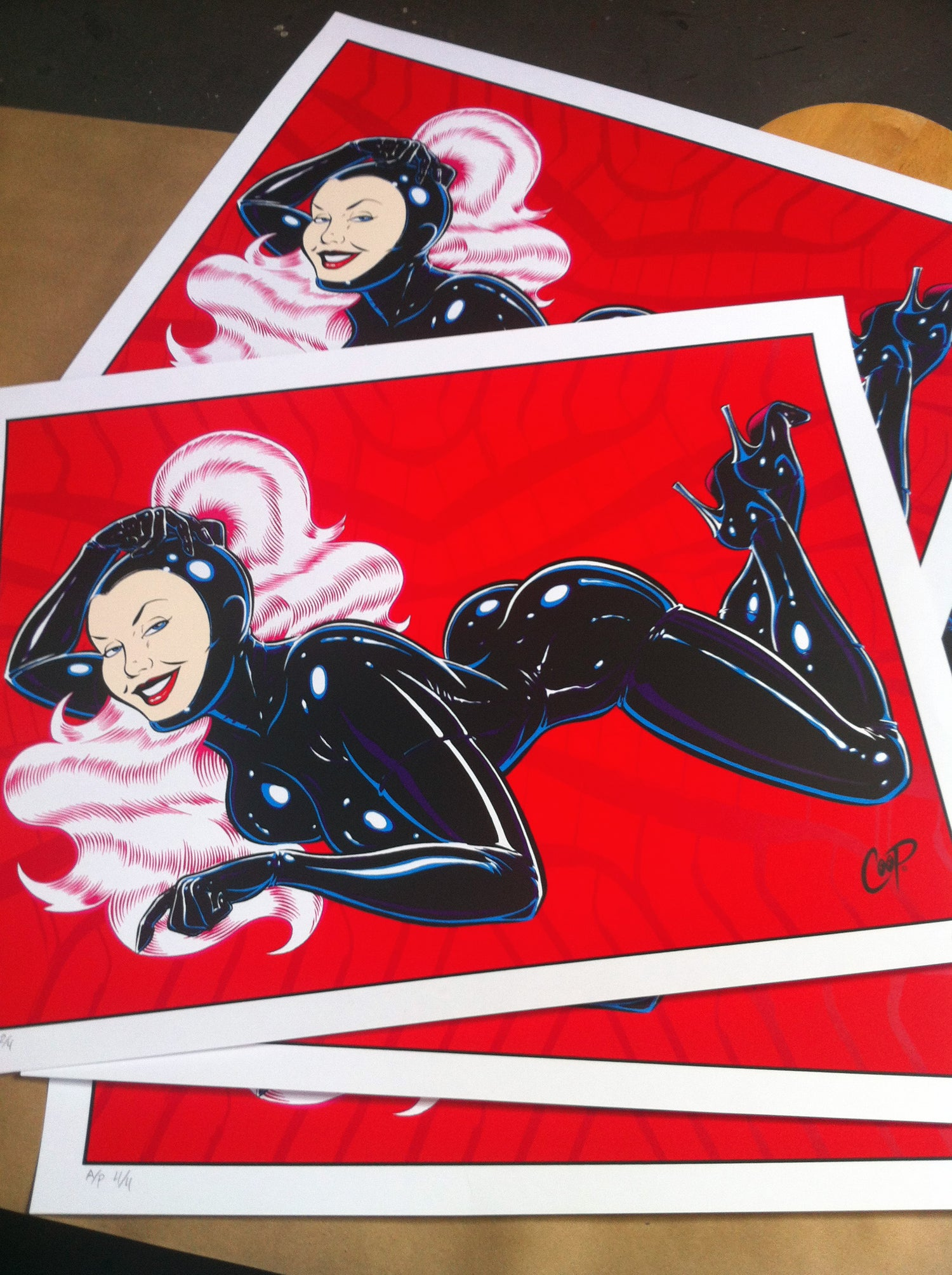 Image of Rubber Girl #1 Silkscreen Print