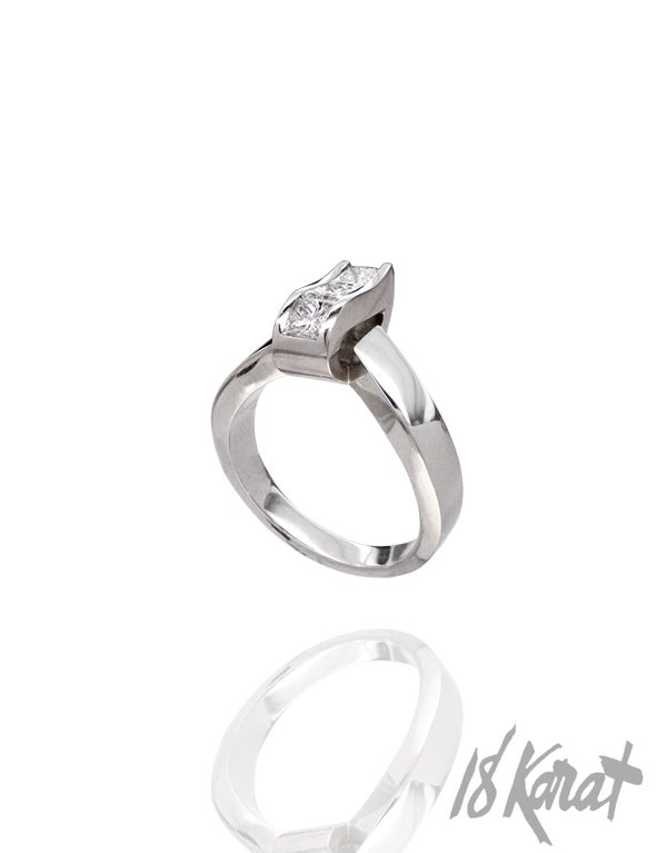 Ripple Engagement Ring - 18Karat Studio+Gallery