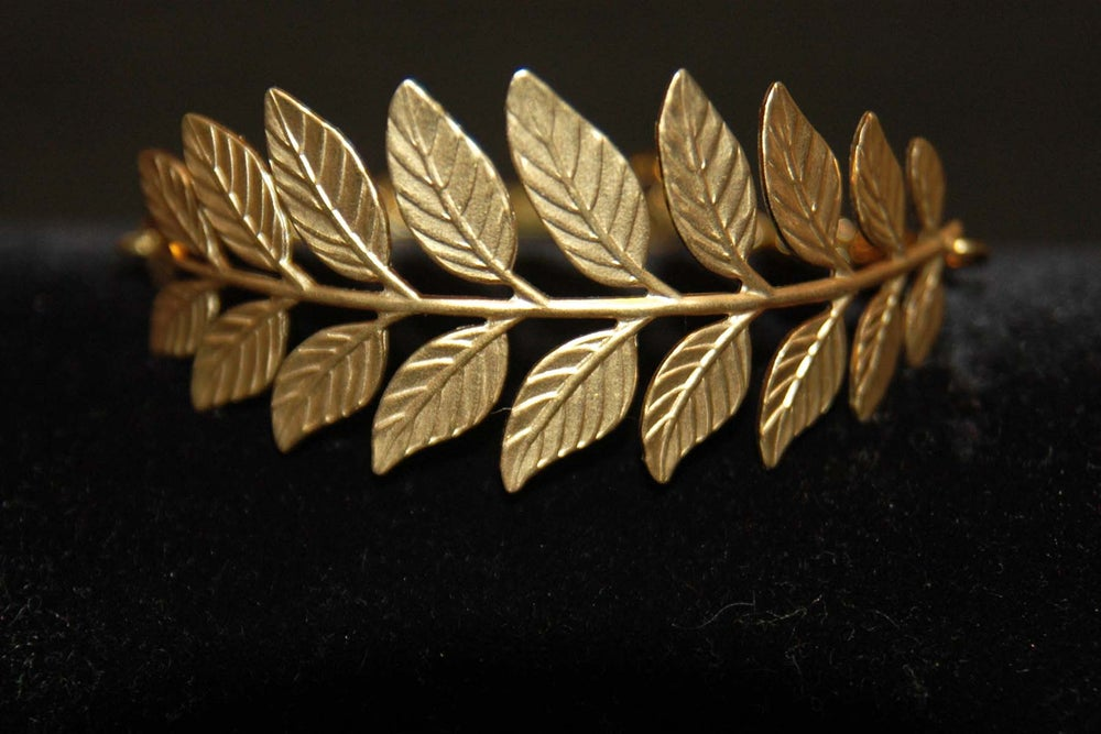 Image of Fern bracelet in brass