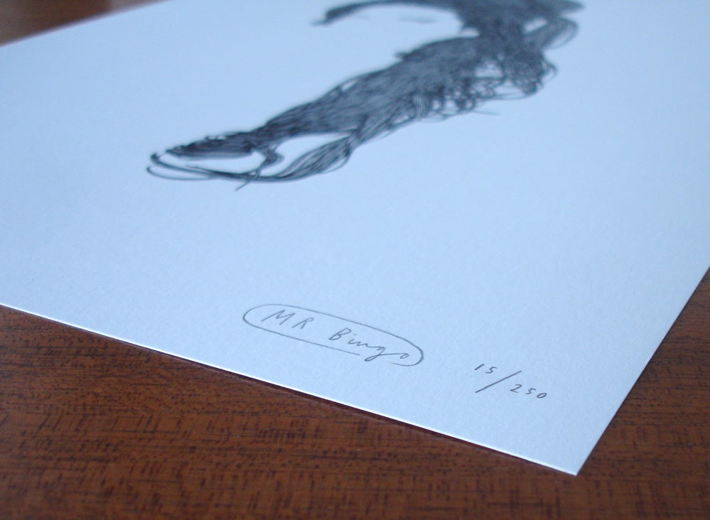 Image of Mr Bingo 'Amy' Black Edition Silkscreen
