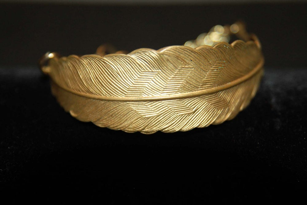 Image of Feather bracelet in brass