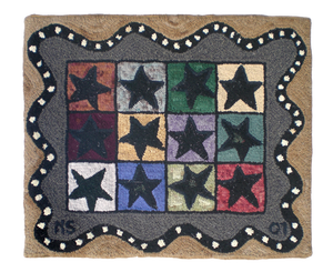 Image of Star Grid with Serpentine Border