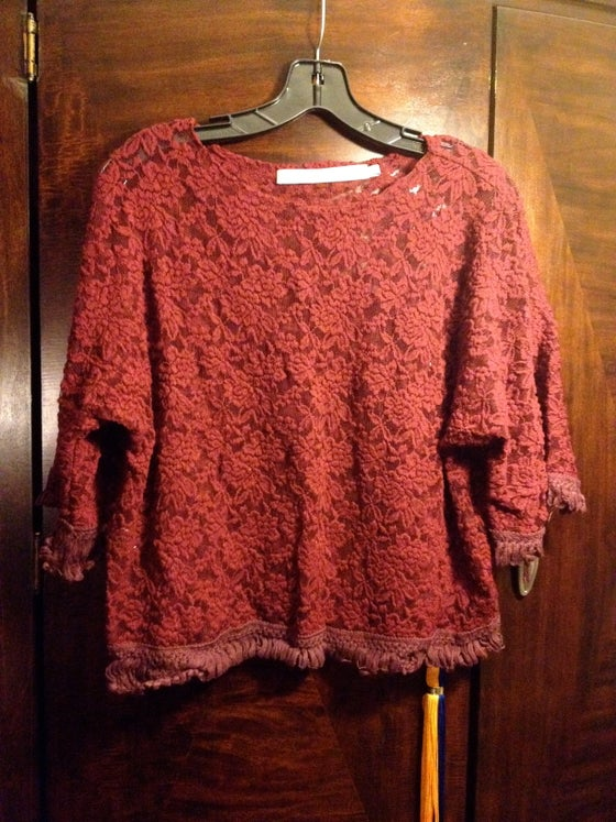 Image of Maroon Lace Shirt