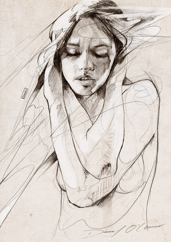 """Image of """"Figure Sketch"""" OPEN EDT PRINT - FREE WORLDWIDE SHIPPING"""