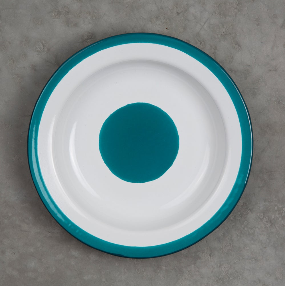 Image of Deep Enamel Plate BLUE DUCK 22cm