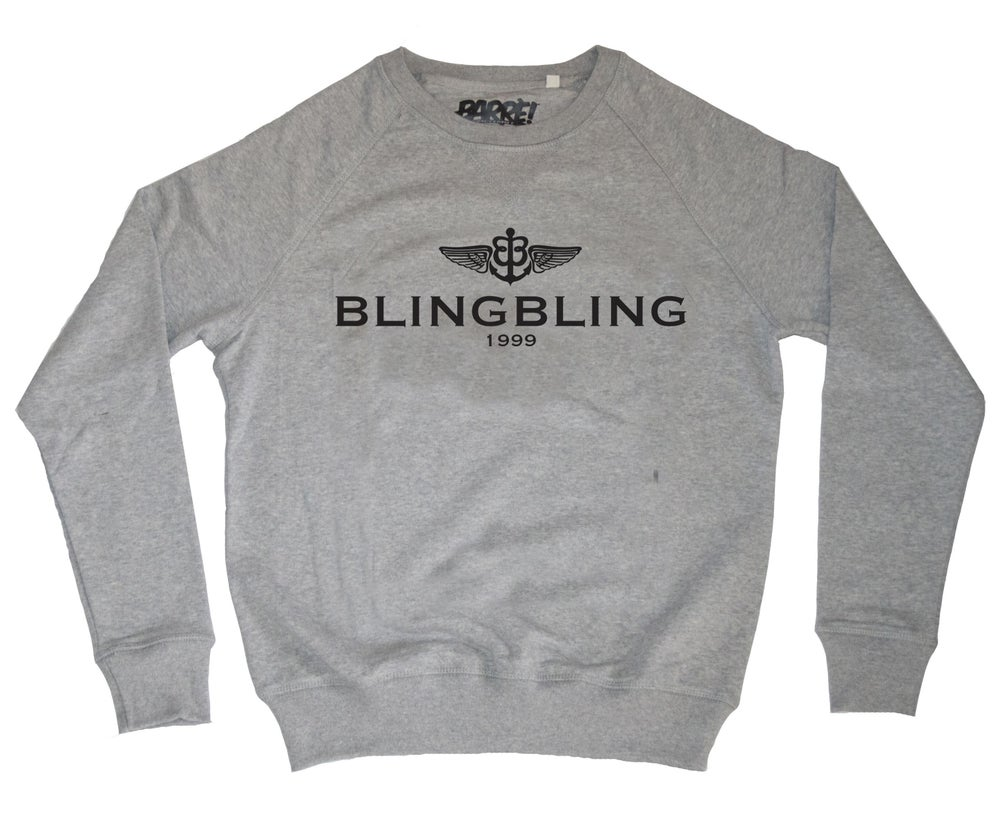 "Image of CREWNECK ""BLING BLING"" GREY"