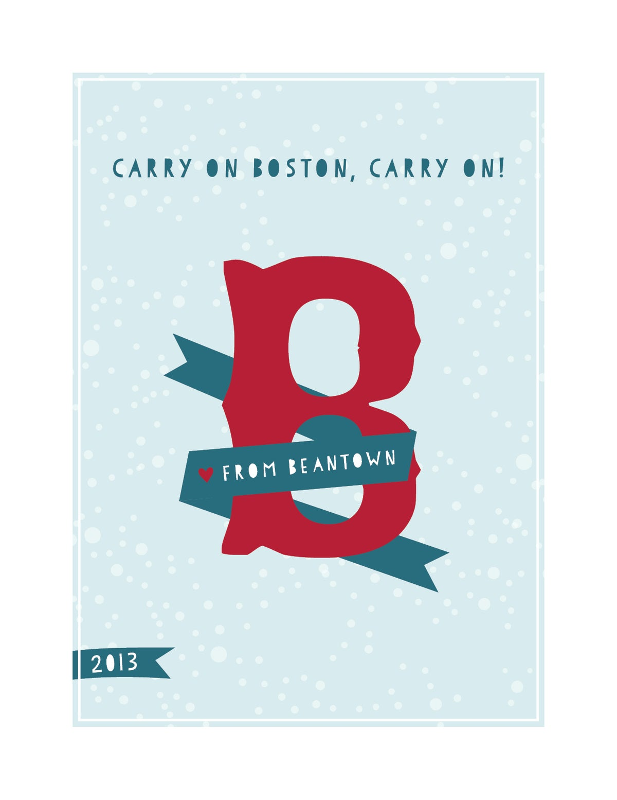 Carry On Boston, Carry On! Love from Beantown Card