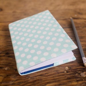 Image of Mint Polka Dot Notebooks