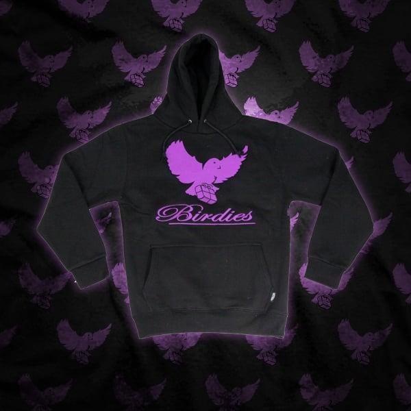 Image of Black/Purple Birdies Hoodie