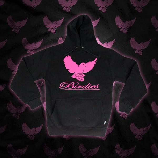 Image of Black/Pink Birdies Hoodie