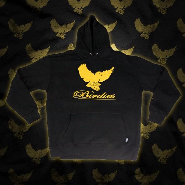 Image of Black/Gold Birdies Hoodie