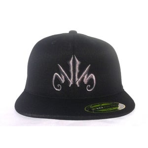 Image of WWS 'Branded' Flatbill Fitted Hat - Silver