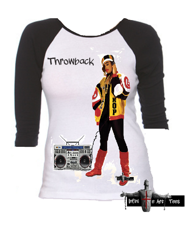 Image of Old School Female Hip Hop Throwback T Shirt