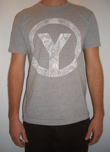 Image of Heather/ White Logo T