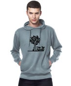 Image of Unisex The Jar Family Grey Hoodie With Black Guitar