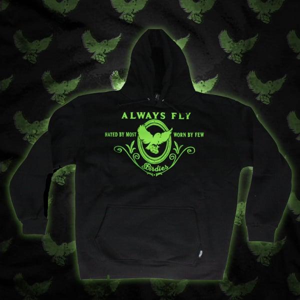 Image of Black/Green Always Fly Hoodie