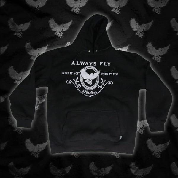 Image of Black/White Always Fly Hoodie