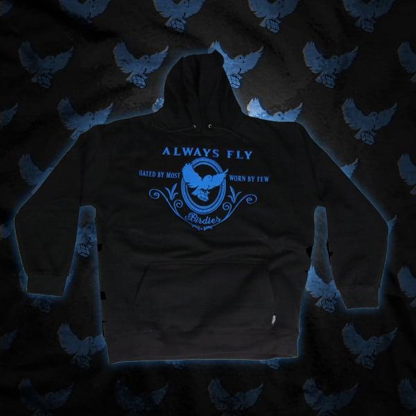 Image of Black/Blue Always Fly Hoodie