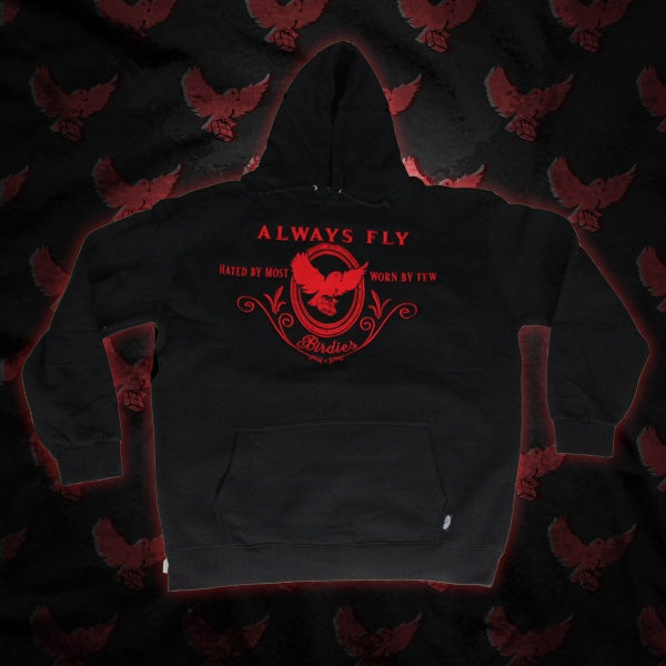 Image of Black/Red Always Fly Hoodie