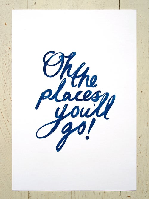 Image of Oh the places you'll go! A4 art prints