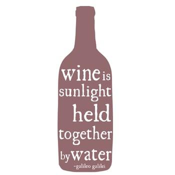 Image of wine is sunlight tea towel