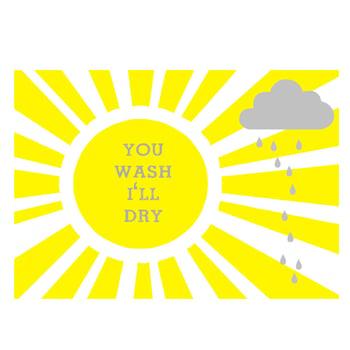 Image of 'you wash i'll dry' tea towel