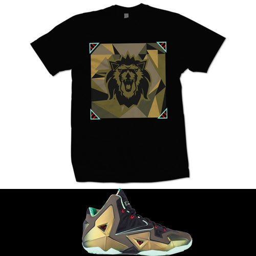 Image of LEBRON 11 KINGS PRIDE T SHIRT - BLK -