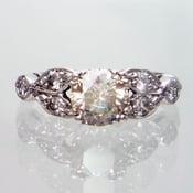 Image of Platinum Vintage Retro Deco 1ct Diamond Engagement Ring